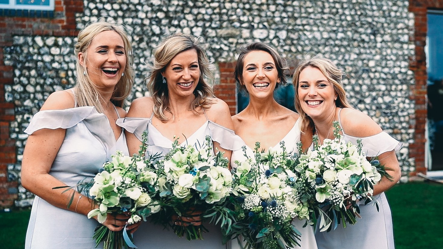 farbridge bridesmaids Sussex wedding videographer photographer