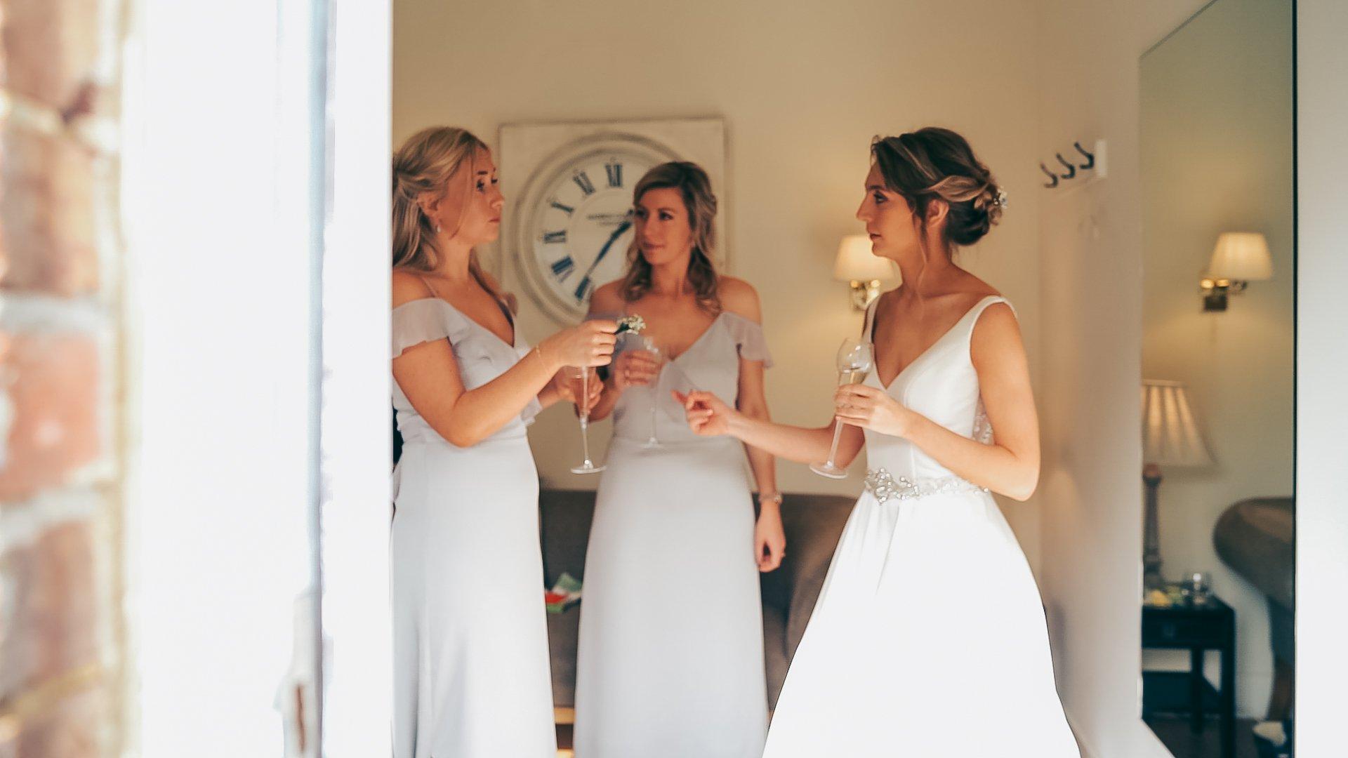 natural moment photography Surrey Guildford bridesmaids